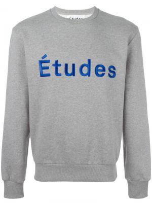 Толстовка Etoile Etudes Études. Цвет: серый