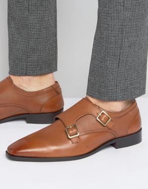 KG Kurt Geiger Кожаные туфли-монки Brook. Цвет: рыжий
