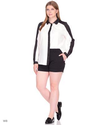 Блузка BERKLINE. Цвет: черный, молочный