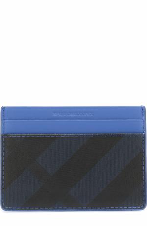 Кожаный футляр для кредитных карт Burberry. Цвет: голубой