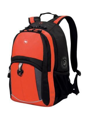Рюкзак WENGER. Цвет: черный, серый, оранжевый