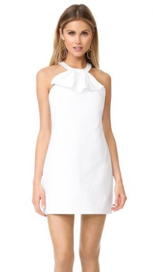 Платье Kitsy Amanda Uprichard. Цвет: белая ткань пике