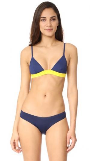 Лиф бикини Morgan Solid & Striped. Цвет: голубой
