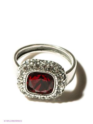 Кольцо Jenavi. Цвет: серебристый, бордовый
