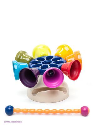 Игрушка Карусель колокольчиков Battat. Цвет: синий, оранжевый, желтый, хаки, голубой, красный