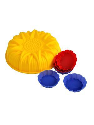 Набор Regent inox. Цвет: желтый, красный, синий