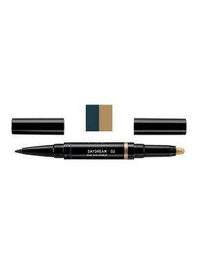 Карандаш и тени для век в наборе DAYDREAM liner and shadow, тон 2 NOUBA. Цвет: бирюзовый, золотистый