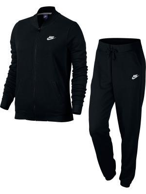 Спортивный костюм W NSW TRK SUIT FT Nike. Цвет: черный