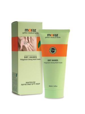 Крем для сухой и натруженной кожи рук на основе экстракта травы горец Moraz. Цвет: белый