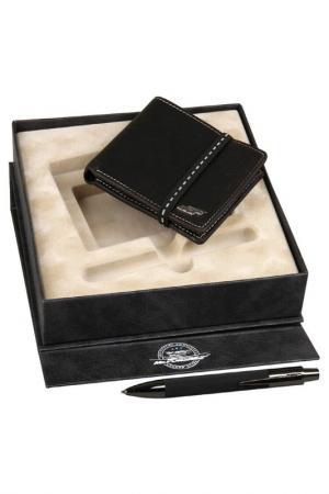 Набор: портмоне, ручка Mr.Forsage. Цвет: черный