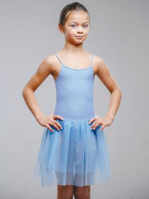 Гимнастический купальник EMDI. Цвет: голубой