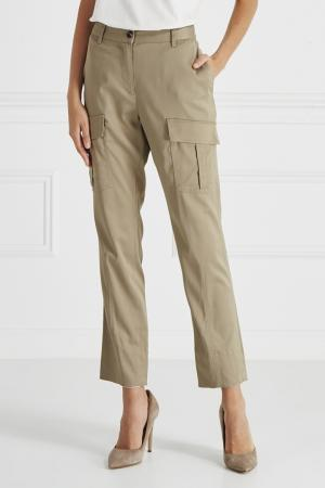 Однотонные карго-брюки Barbara Bui. Цвет: бежевый