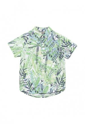 Рубашка Piazza Italia. Цвет: зеленый