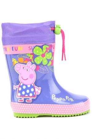 Резиновые сапожки Peppa Pig. Цвет: сиреневый