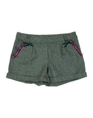 Повседневные шорты PAESAGGino. Цвет: зеленый