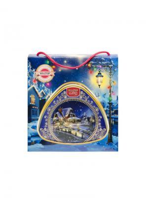 Чай Hilltop с чабрецом 80г медальончик Зимняя фантазия в футляре. Цвет: черный