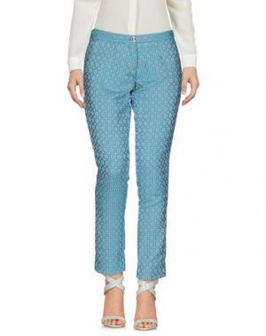 Повседневные брюки BLANCA LUZ. Цвет: бирюзовый