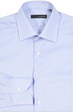 Свободная сорочка с воротником кент Stanbridge. Цвет: голубой