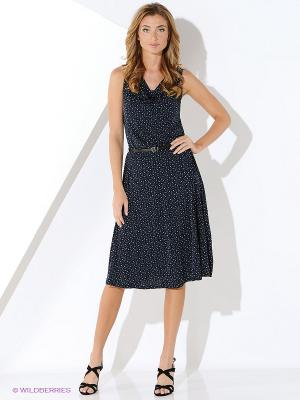 Платье Malvin. Цвет: темно-синий