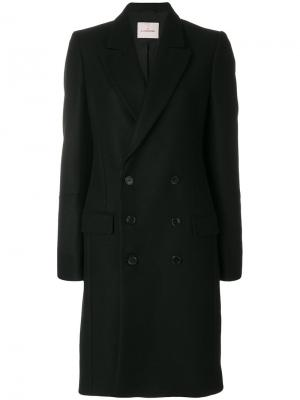 Пальто строгого кроя A.F.Vandevorst. Цвет: чёрный
