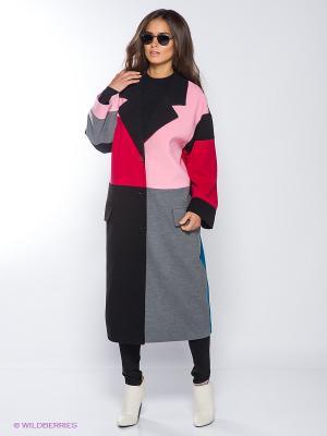 Пальто Vika Smolyanitskaya. Цвет: серый, красный, розовый, черный, бирюзовый