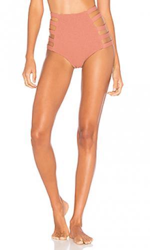 Низ купальника с высокой талией vera Tori Praver Swimwear. Цвет: коричневый
