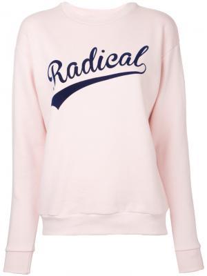 Slogan sweatshirt Être Cécile. Цвет: розовый и фиолетовый