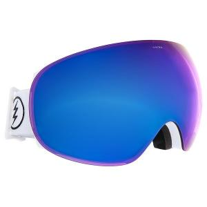 Маска для сноуборда  Eg3 Gloss White+Black/Brose/Blue Chrome Electric. Цвет: белый