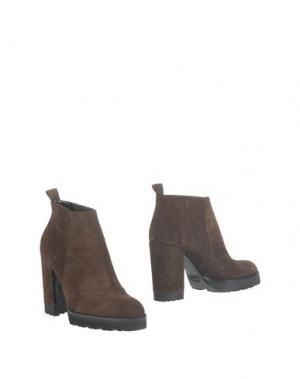 Полусапоги и высокие ботинки ROBERTO FESTA. Цвет: темно-коричневый