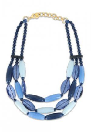 Ожерелье LUISA SPAGNOLI. Цвет: голубой