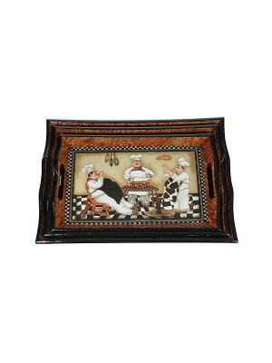 Набор подносов из 3-х шт. Русские подарки. Цвет: коричневый