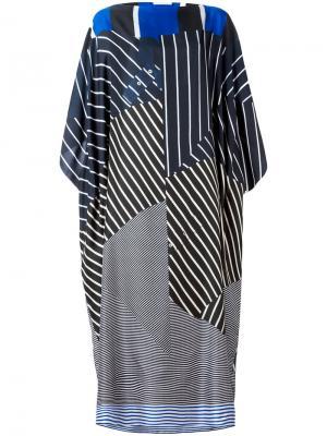 Объемное платье в полоску Pierre-Louis Mascia. Цвет: многоцветный