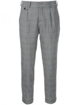 Укороченные классические брюки Loveless. Цвет: серый