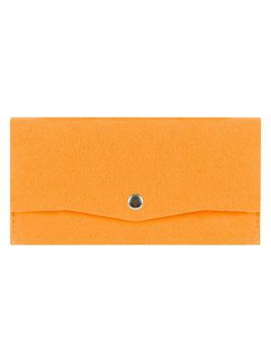 Косметичка фетровая на клепке IQ Format. Цвет: оранжевый