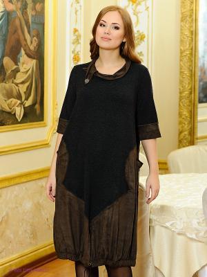 Платье МадаМ Т. Цвет: темно-серый, коричневый