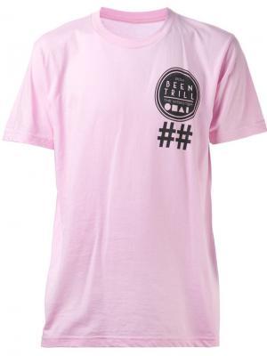 Футболка Been Trill Beentrill. Цвет: розовый и фиолетовый