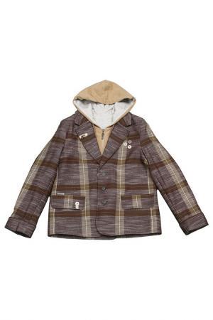 Пиджак-френч Choupette. Цвет: коричневый