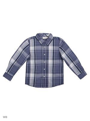 Рубашка NAME IT. Цвет: серо-голубой