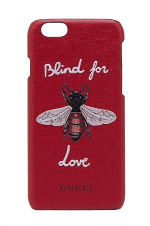 Чехол Blind for Love для iPhone 6/6s Gucci. Цвет: красный