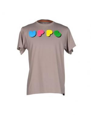 Футболка UPPER PLAYGROUND. Цвет: голубиный серый
