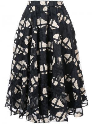 Пышная юбка с цветочным принтом Co. Цвет: чёрный