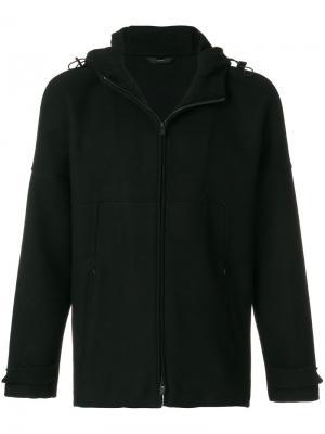 Куртка с капюшоном  на молнии Hevo. Цвет: чёрный
