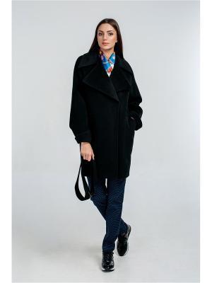 Пальто Exalta. Цвет: черный, темно-коричневый