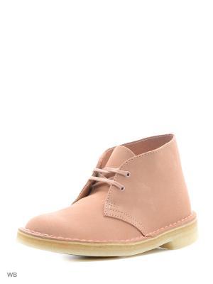 Ботинки Clarks. Цвет: розовый