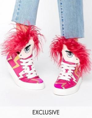 Minna Parikka Высокие кроссовки с дизайном единорога Aero. Цвет: мульти