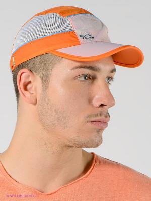 Бейсболка Maxval. Цвет: оранжевый, белый