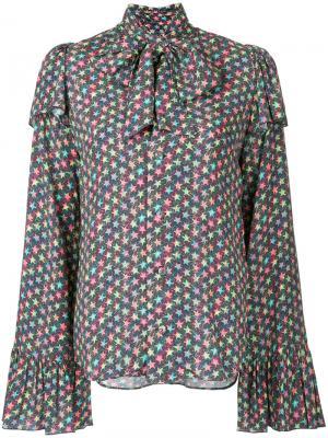 Rayon crepe pussy bow blouse G.V.G.V.. Цвет: многоцветный