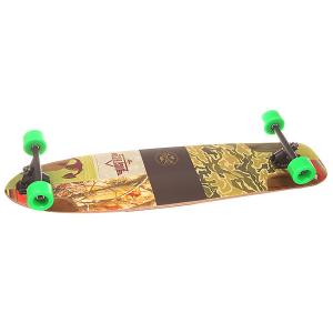 Лонгборд  S6 Shooter Downhill Longboard Kryptonics Green 9.75 x 36 (91.5 см) Dusters. Цвет: мультиколор