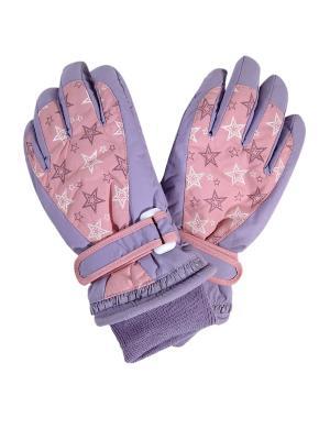 Перчатки GrandDEkids. Цвет: сиреневый