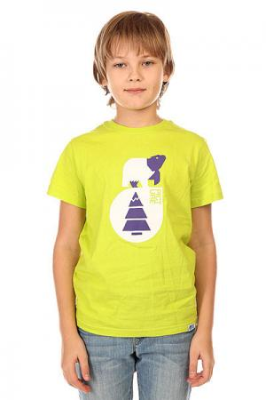 Футболка детская  T Shirt Teddy Green Picture Organic. Цвет: зеленый